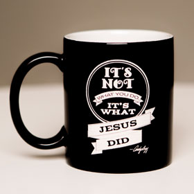 Blk Mug - What Jesus Did