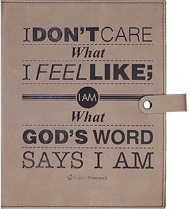 Light Brown Bible Cover -