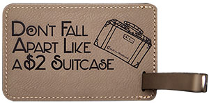 Light Brown Luggage Tag
