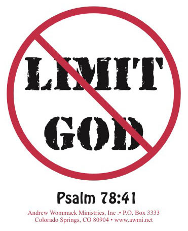 Don't Limit God Sticker